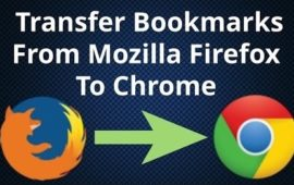 Migrate from Chrome to Firefox and transfer data, favorites and passwords