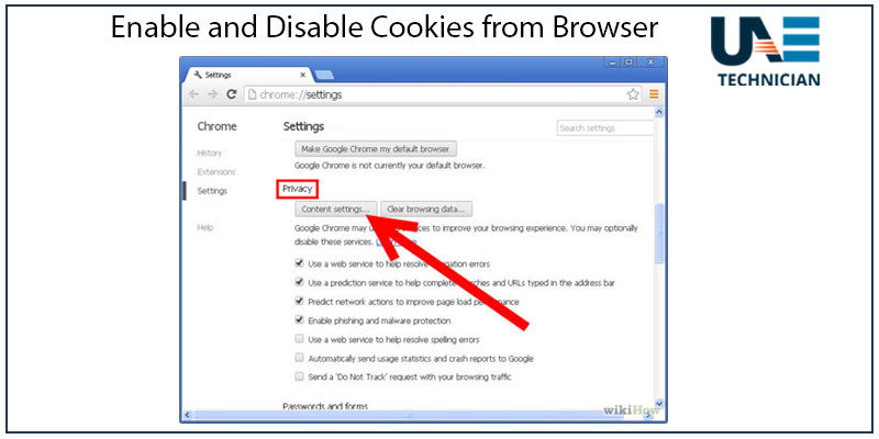 How to Enable and Disable Cookies from Browser