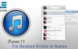 How to Fix Restore Errors in iTunes?