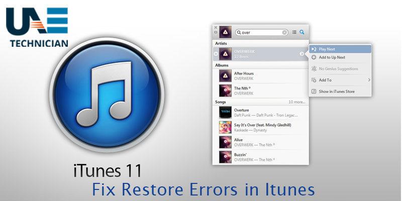 Fix Restore Errors in iTunes