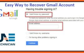 How to Recover Google Gmail Account in Case of Login Problems