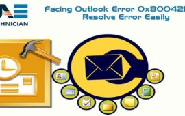 Are You Facing Outlook Error 0x80042109? Resolve it Quickly By Applying Simple Solutions
