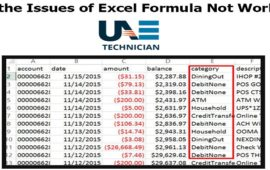 How to fix the Issues of Excel Formula Not Working in Microsoft excel