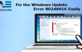 How Can You Fix the Windows Update Error 80240016?